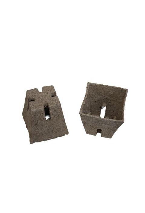 Jiffy-Pots, 8.0 cm eckig, mit Schlitz