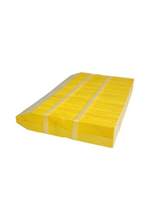Holz-Stecketiketten gelb. Bund à 100