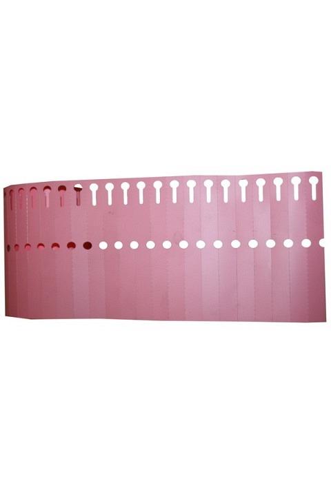 Etiquettes à oeillets plastiques. Rlx de 1000
