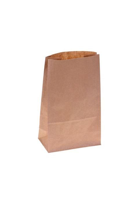 Blockbodenbeutel Papier, braun,