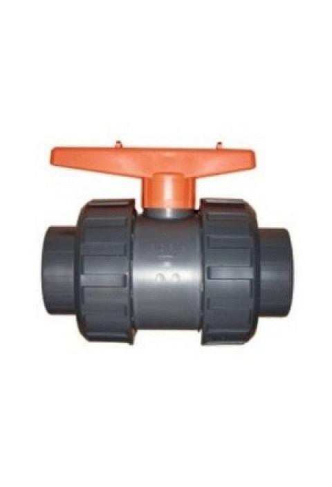 PVC Profec Kugelhahn PVC-U 3, grau